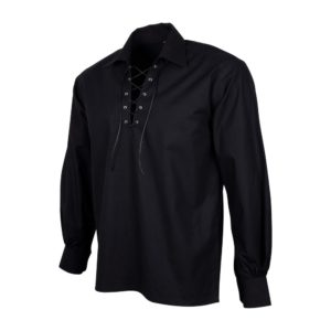 Black Jacobite Shirt Side