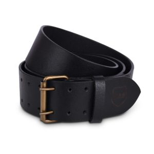 Genuine Black Cow Leather 2.5 Double Prong Kilt Belt