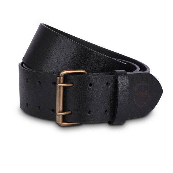 Genuine Black Cow Leather 2.5 Double Prong Kilt Belt