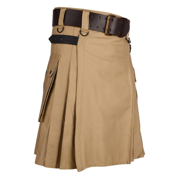 Genuine Brown Cow Leather 2.5 Double Prong Kilt Belt
