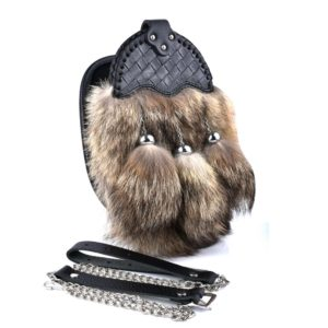 Genuine Coyote fur Sporran with Leather Cantle 2