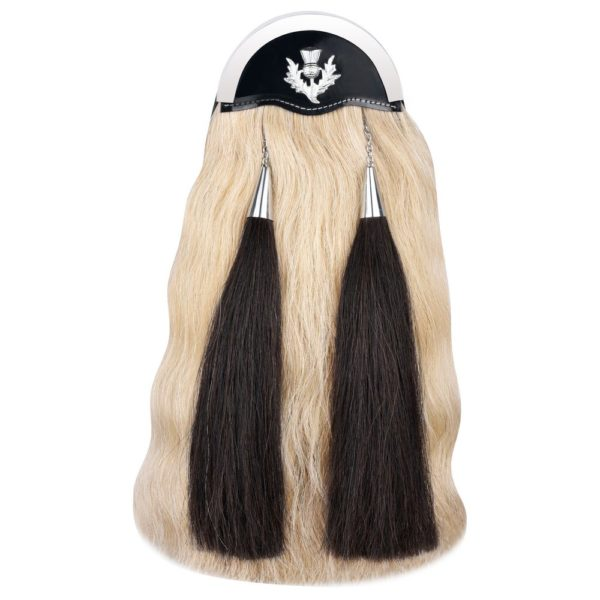Genuine Horse 18 Inches Hair Sporran with Three Cantles