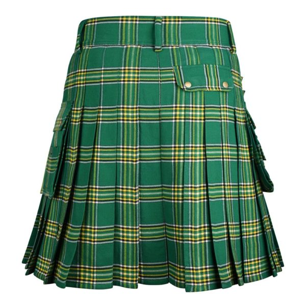 Irish National Green 16 oz Tartan Utility Kilt