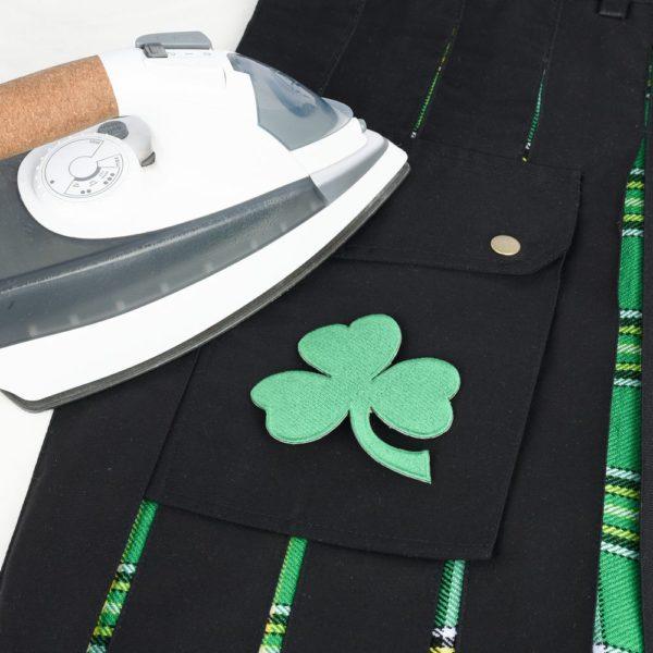 Men's Hybrid Black Cotton & Irish National Tartan Utility Kilt