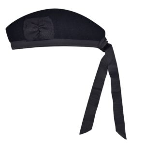 Plain Black Gengarry Cap