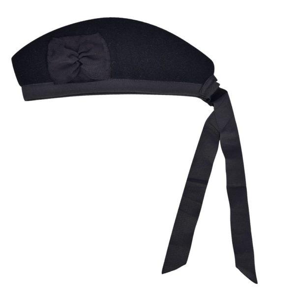 Plain Black Gengarry Cap